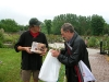 Lullingstone Castle, Kent, on 13  May 2007 - with Tom signing our raffle prize!  A very wet day!